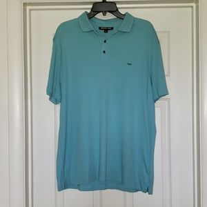 Men's Michael Kors Light Blue Green Polo Shirt XL